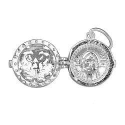 Серебряная ладанка с фианитами Светлый покровитель 000028543