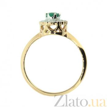 Кольцо из красного золота с изумрудом и бриллиантами Габриэлла ZMX--RE-5502_K