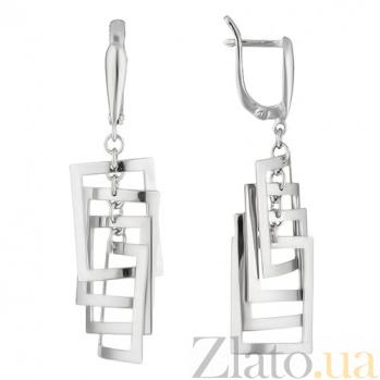 Серебряные серьги Ассоциация TNG--480031С
