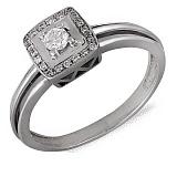 Кольцо из белого золота Грета с бриллиантами