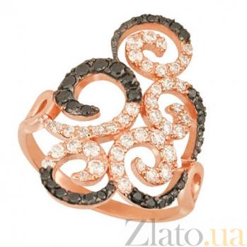Кольцо из красного золота с фианитами Актриса VLT--ТТТ1209-2