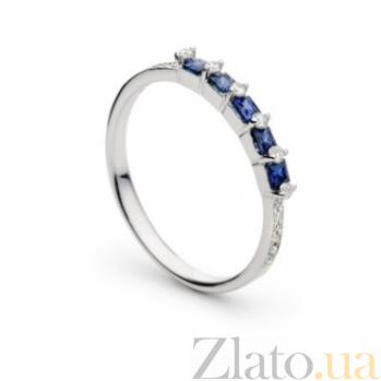 Золотое кольцо с сапфирами и бриллиантами Диониссия 000030384