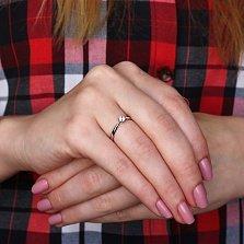 Золотое кольцо Решение с фианитом в белом цвете