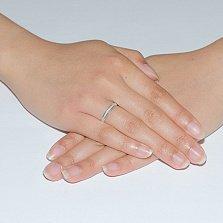 Золотое обручальное кольцо Тонкости любви, 2,5мм