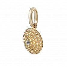 Кулон из желтого золота Кора с бриллиантом