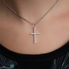 Серебряный кулон-крестик Престиж