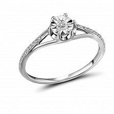 Кольцо из белого золота Трейси с белым топазом и бриллиантами