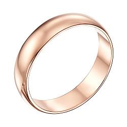 Обручальное кольцо из красного золота Классический стиль