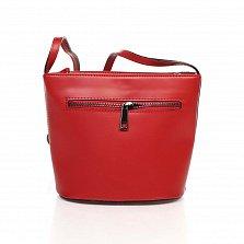 Кожаный клатч Genuine Leather 1802 красного и бордового цвета с плечевым ремнем
