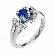 Золотое кольцо с сапфиром и бриллиантами Тайна