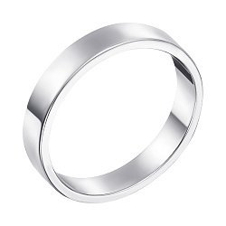 Обручальное кольцо из белого золота с родированием 000000293