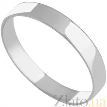 Обручальное кольцо из белого золота Судьба 000029407