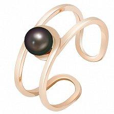 Золотое кольцо с жемчугом Морской бриз