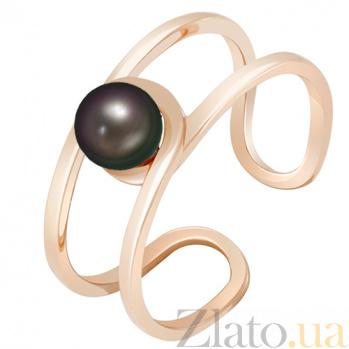 Золотое кольцо с жемчугом Морской бриз 000032804