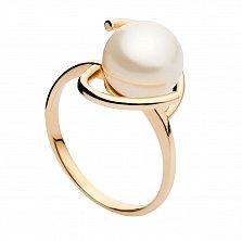 Золотое кольцо с жемчугом Романтика