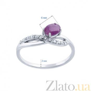 Серебряное кольцо с рубином Флоренция AQA--R00963Rb