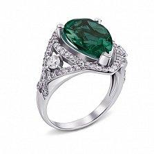 Кольцо Мерилин с зеленым кварцем