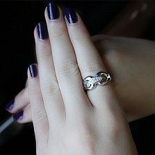 Серебряное кольцо с бриллиантами Nora