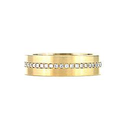Кольцо из желтого золота с топазами Истинная любовь