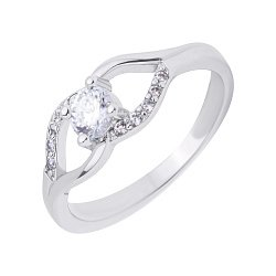 Серебряное кольцо с фианитами 000117746