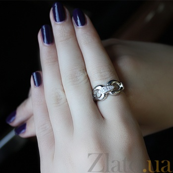 Серебряное кольцо с бриллиантами Nora 79101799