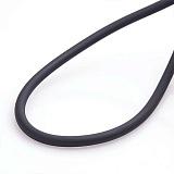 Каучуковый шнурок Спаси и сохрани с серебряной застежкой