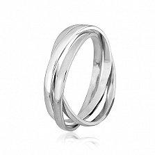 Кольцо из серебра Трио