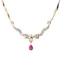 Колье из красного золота с рубином и бриллиантами Фидель