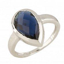 Серебряное кольцо Абигайл с синтезированным сапфиром
