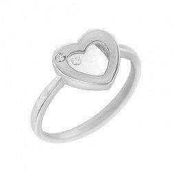 Кольцо в белом золоте с бриллиантами 000105756