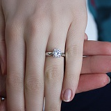 Золотое кольцо с кристаллом Swarovski Ясмина