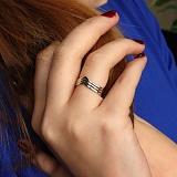 Серебряное кольцо Лайнира с родиевым покрытием