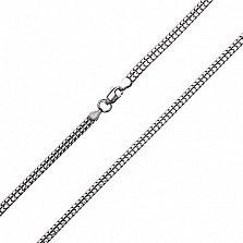 Серебряная цепочка Двойной снейк