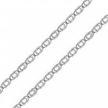 Серебряная цепочка Нана в плетении глаз пантеры, 2мм