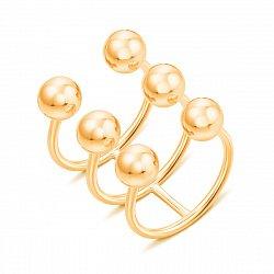 Разомкнутое кольцо на всю фалангу из желтого золота 000135601