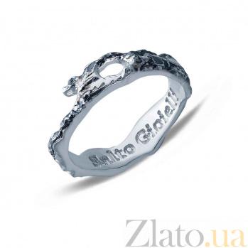 Серебряное кольцо с чернением  AQA--АНТ 003ч