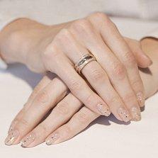 Обручальное кольцо из красного и белого золота Купидон