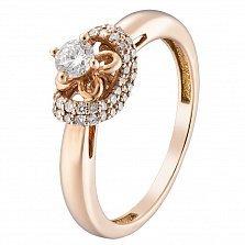 Золотое кольцо Фредерика с бриллиантами