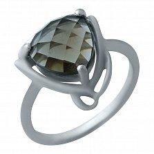 Серебряное кольцо Встреча с раухтопазом