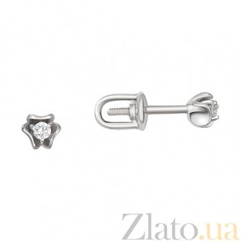 Серьги в белом золоте Камилла с бриллиантами SVA--2190716202/Бриллиант