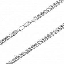 Серебряная цепочка родированная Нонна, 3мм