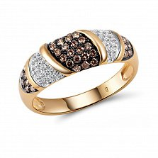 Кольцо из красного золота Джовита с бриллиантами