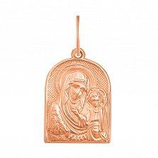 Ладанка в красном золоте Казанская Божья Матерь