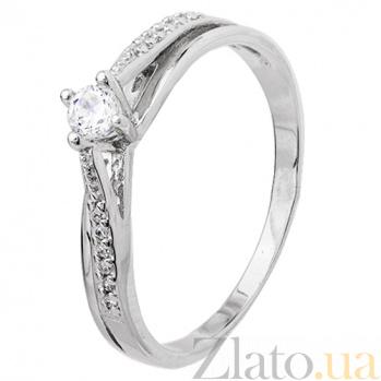 Серебряное кольцо Балет с цирконием SLX--К2Ф/306