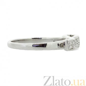 Серебряное кольцо бриллиантами Баяз ZMX--RD-6046-Ag_K