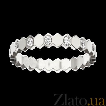 Кольцо в белом золоте с бриллиантами Bee R-Ch/Bee-W-diam