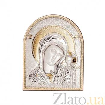 Серебряная с позолотой икона Казанской Божьей Матери AQA--08142222