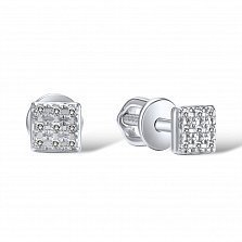 Серьги из белого золота Дирана с бриллиантами