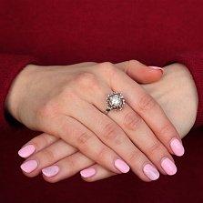 Серебряное кольцо Барокко с белым жемчугом