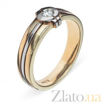 Кольцо из комбинированного золота с бриллиантом Auva R 0391